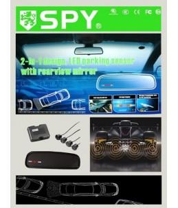 Sensores de aparcamiento con pantalla espejo retrovisor
