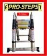 Escalera telescópica 5.0mtrs. Marca Pro-Steps