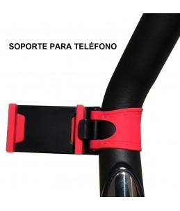 Bicicleta spinning marca Maketec con volante de inercia de 18 kilos