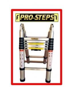 Escalera telescópica 3.8 mtrs A-Type marca Pro-Steps