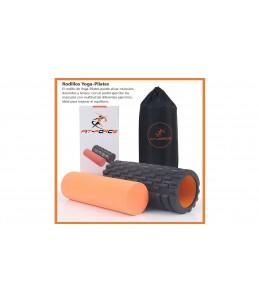 Rodillo Yoga-Pilates Fit-Force 2 en 1 Lo mejor para masajes y ejercitar musculos