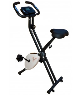 Bicicleta estática Fit-Force regulable plegable 8 niveles de resistencia