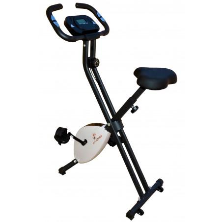 Bicicleta estática Fit-Force regulable plegable 8 niveles de resistencia