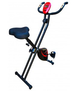 Bicicleta estática Fit-Force regulable plegable 8 niveles de resistencia 16KG