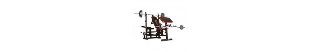 Bancos de musculacion y pesas